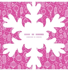 holiday lanterns line art Christmas snowflake vector image vector image