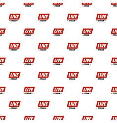 Hot live stream pattern seamless vector