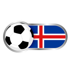 Iceland soccer icon vector