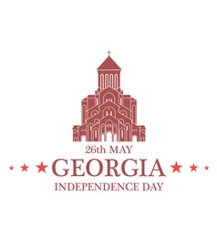 Independence day georgia vector