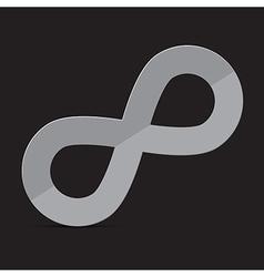 Infinity symbol on dark background vector