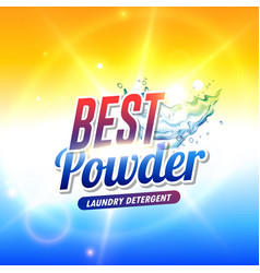 laundry detergent powder or soap product vector image vector image