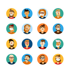 men userpic set vector image vector image