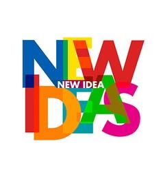 new idea vector image