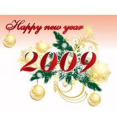 nye 2009 vector image vector image