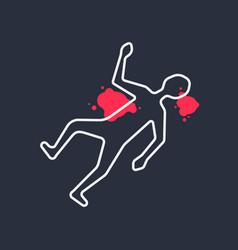 Outline body like simple crime scene vector