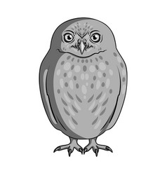owlanimals single icon in monochrome style vector image vector image