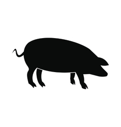 Pig icon black vector image vector image