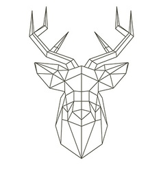 Polygonal head of deer vector image vector image