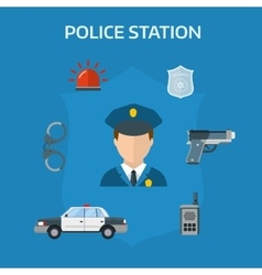Security elements of the police equipment symbols vector image vector image