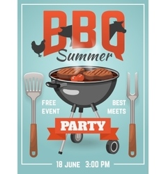 Summer BBQ Poster vector image