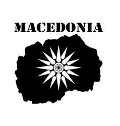 Symbol of macedonia and map vector