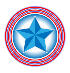 Symbol of the us flag the star in the circles vector