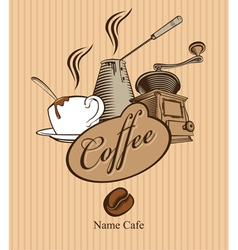 triple coffee vector image