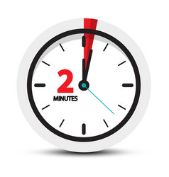 two minutes clock symbol 2 minute icon vector image