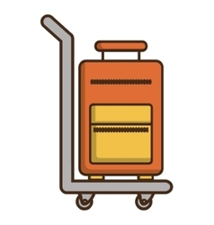 Baggage of hotel service design vector
