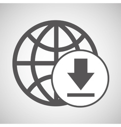 Global digital network download design vector