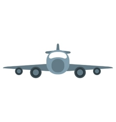 Jet airplane private transport front view vector