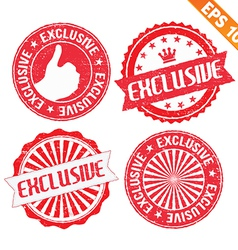 Stamp sticker exclusive collection - - eps1 vector
