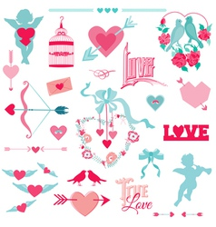 Vintage love elements vector