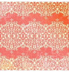 Vintage beige and pink floral seamless pattern vector