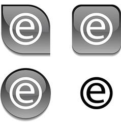 Enternet glossy button vector