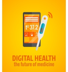 Digital health concept vector