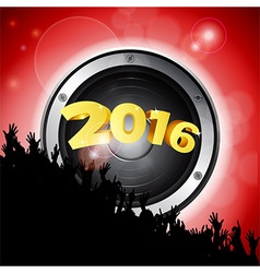 New years party 2016 with speaker and crowd vector