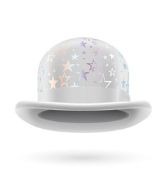White starred bowler hat vector