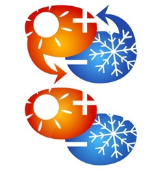Air conditioning emblem vector image
