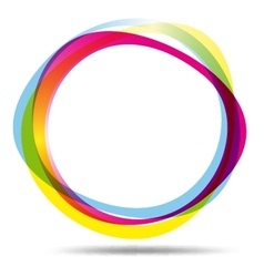 Colorful ring logo vector image vector image