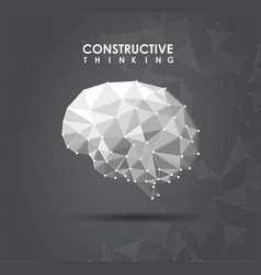 Conceptual polygonal brain abstract vector