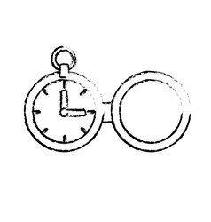 Figure clock of pocket to know the time vector