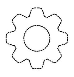 gear sticker vector image