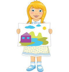 Girl Painting vector image vector image