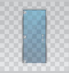 glass door isolated on grey background vector image vector image