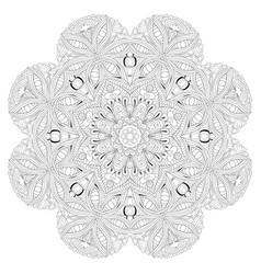 hand drawn zentangle mandala for coloring page vector image