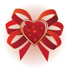heart and roses vector image vector image