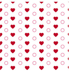 Hearts seamless pattern modern stylish texture vector