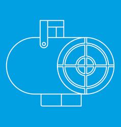 Heat gun icon outline style vector
