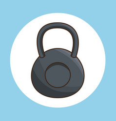 Kettlebell exercise gym sport vector