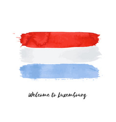 Luxembourg watercolor national country flag icon vector