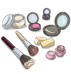 makeup products vector image vector image