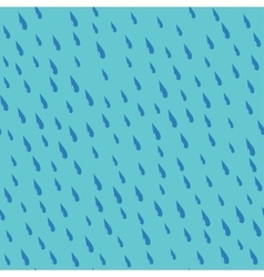 Rain drops on a teal background seamless pattern vector