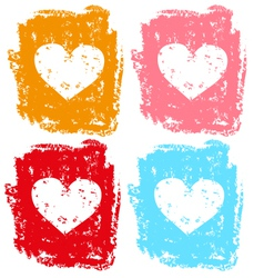 Set of hearts for valentine vector image