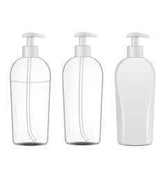 set of realistic cosmetic bottles tube or vector image