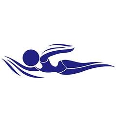 Sport icon design for swimming vector