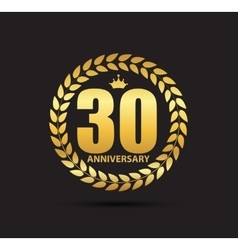 Template Logo 30 Years Anniversary vector image