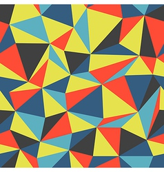 triangle colorful pattern seamless vector image vector image