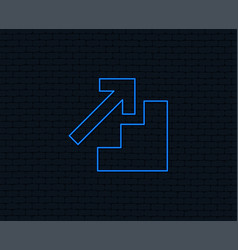 upstairs icon up arrow sign vector image vector image